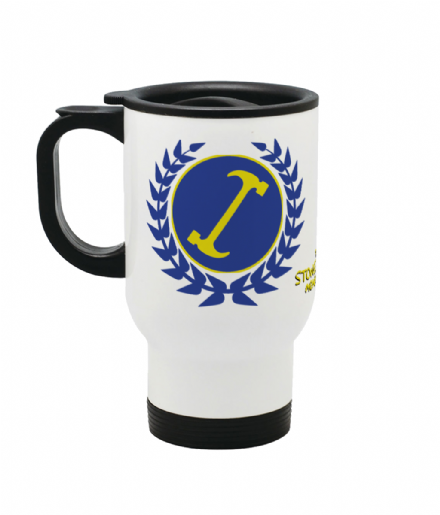 The Stonecutters Member 908 Reusable Travel Mug Inspired by The Simpsons